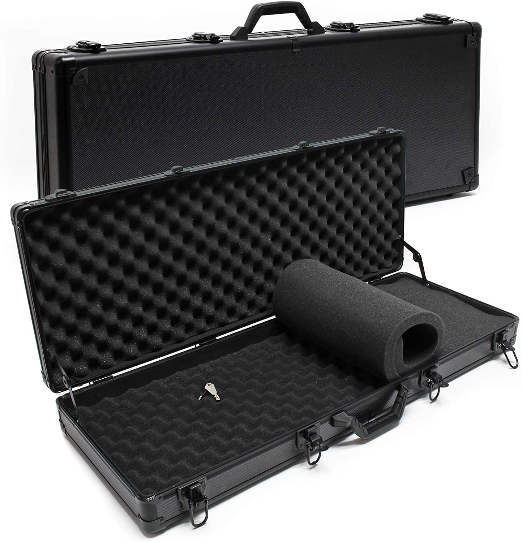 Merdia Media Gewehr-Hartschalenkoffer Waffenkoffer Pr/äzisions-Hart Gewehrkoffer mit intensiv gewundenem Schaumstoff Koffer